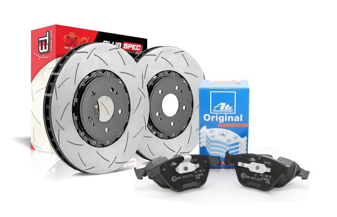 Special package DBA 5000 T3 slotted front discs and ATE pads - Audi SQ5 / Audi A8 D4