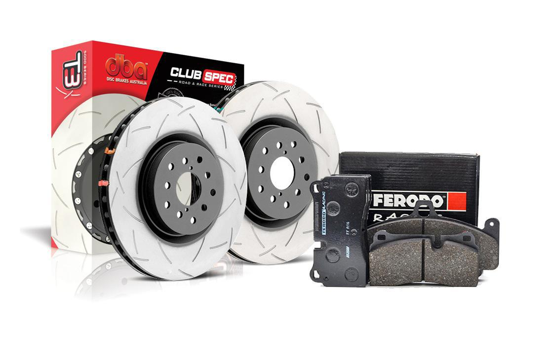 Special package DBA 4000 T3 front discs and Ferodo DS2500 pads - Audi TT 8N 225HP