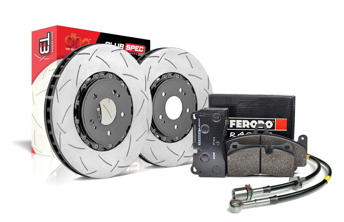 Special package DBA 5000 T3 slotted front discs and Ferodo DS2500 pads - Toyota GT86 / Subaru BRZ