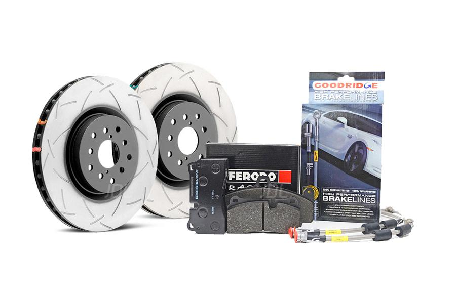 Special package DBA 4000 T3 slotted front discs and Ferodo DS2500 pads and Goodridge brake lines - VW Golf R Mk7