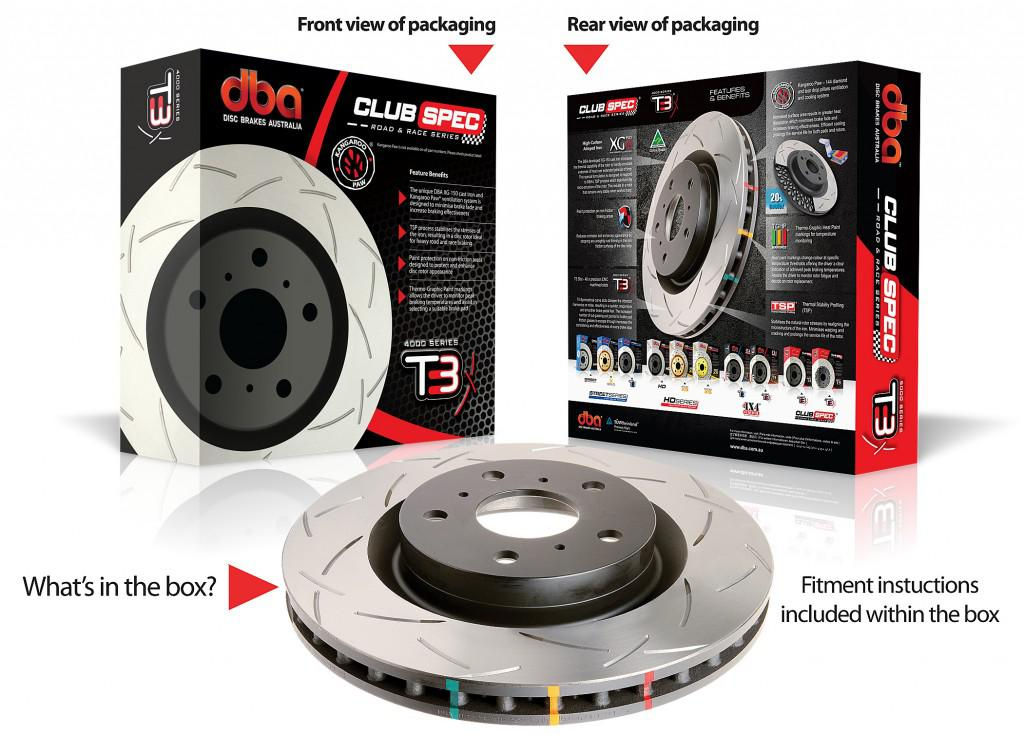 Special package DBA 4000 T3 slotted front brake discs and Ferodo DS2500 pads