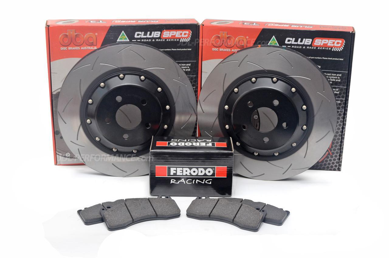 Special package DBA 5000 T3 slotted front discs and Ferodo DS2500 pads - Ford Mustang GT 2015+