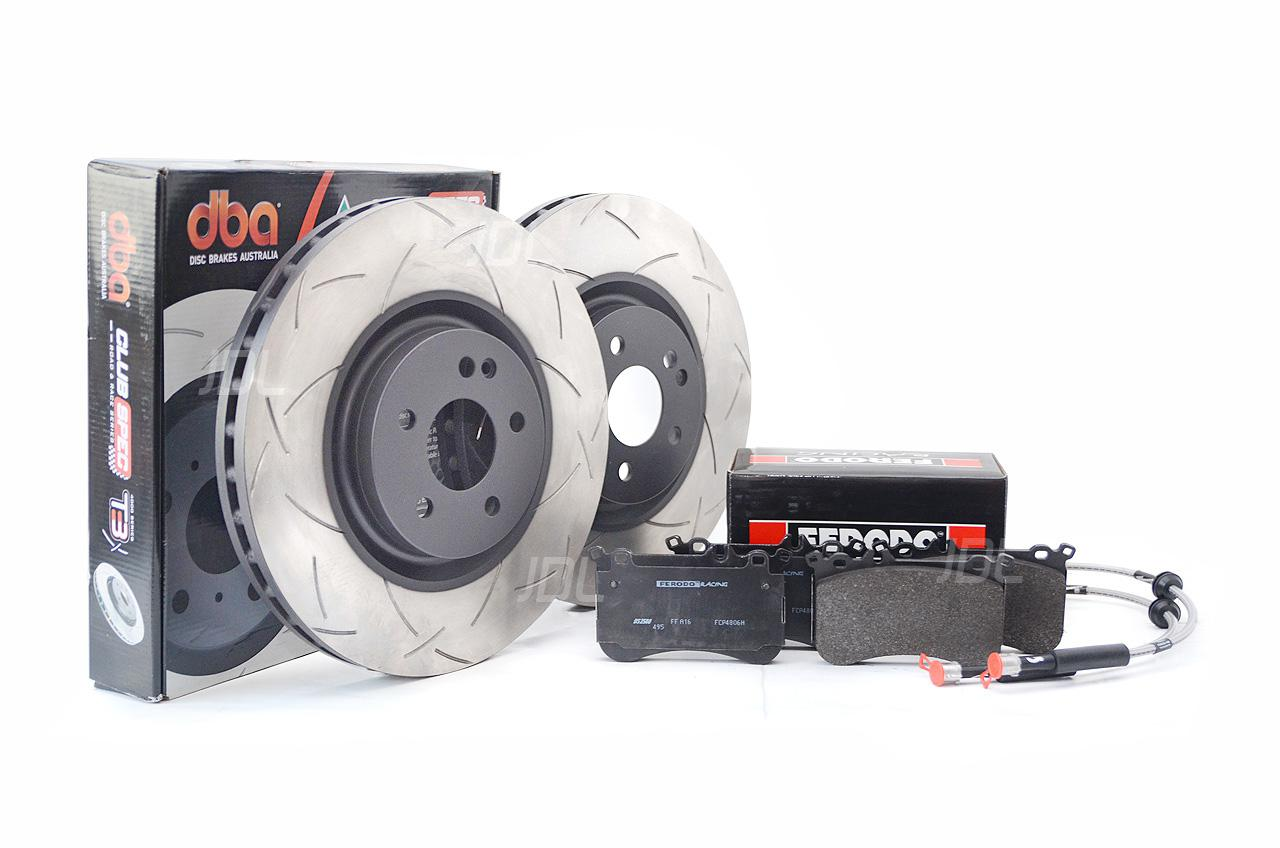 Special package DBA 4000 T3 slotted front discs and Ferodo DS2500 pads and Goodridge brake lines - Mercedes A45 / CLA45 AMG