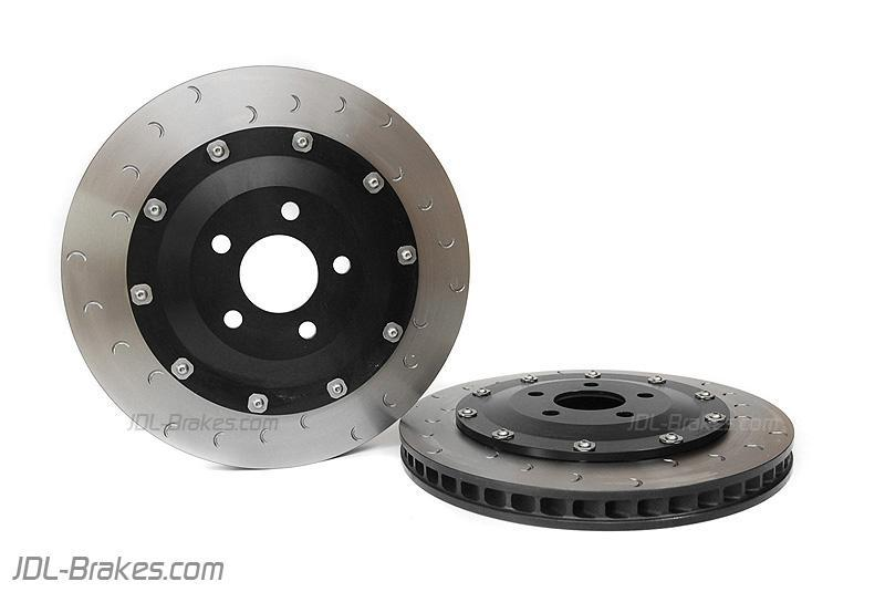Alcon front discs and bells assemblies 365x32 mm for 6 pot mono VW / Audi kits