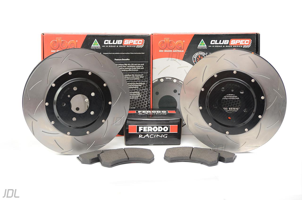Special package DBA 5000 T3 slotted front discs and Ferodo DS2500 front pads - Nissan GTR Gen.1