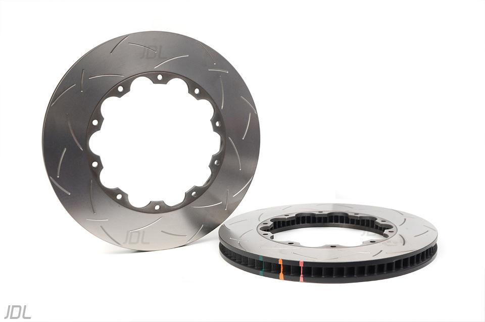 DBA 5000 T3 slotted brake discs front DBA 52370.1 for OE bells - Nissan GTR Gen 2