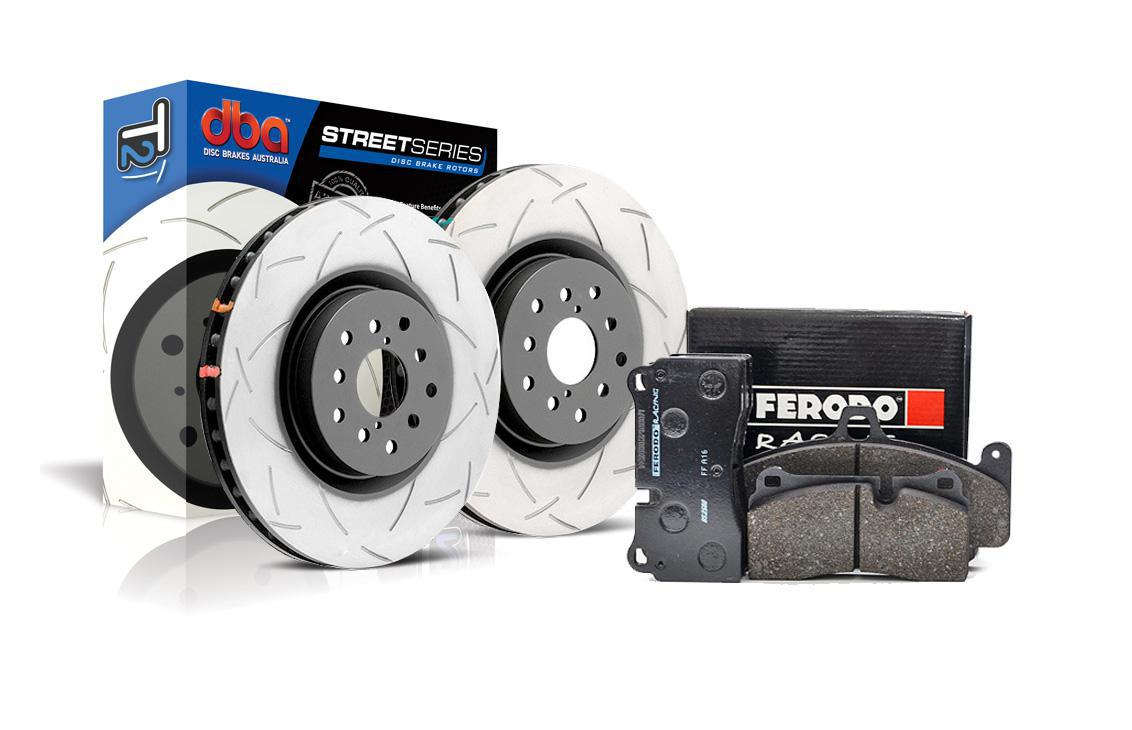 """Special package DBA Street T2 front brake discs and Ferodo DS2500 pads - BMW M-Performance brake system 370mm (""""F"""" series models)"""