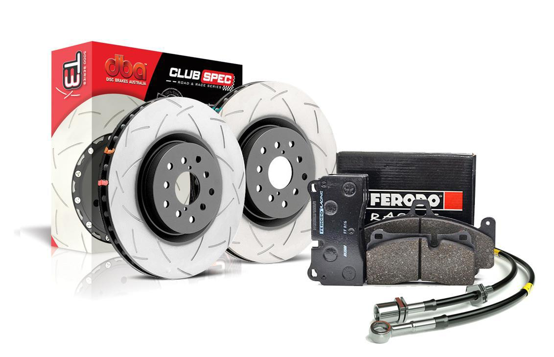 Special package DBA 4000 T3 slotted front discs and Ferodo DS2500 front pads - Ford Focus RS Mk2
