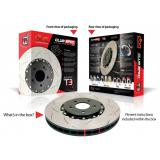 DBA 5000 T3 slotted 2 pieces brake discs DBA 52355BLKS