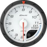 Defi Advance CR Gauge /  Ø60 mm / Exhaust gas temperature / White DF09301