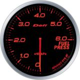 Defi Advance BF Gauge /  Ø60 mm / Fuel pressure / Blacked out DF10302