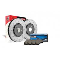 Special package DBA 5000 T3 slotted front discs and Hawk HPS pads - Audi S6 C6
