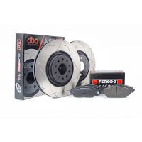 Special package DBA 4000 T3 slotted front discs and Ferodo DS2500 pads - VW Golf R Mk7 / Audi S3 8V