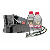 Brake pads, lines and fluid ( RBF660 ) race package for Nissan GTR