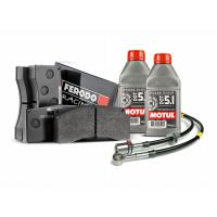 Brake pads, lines and fluid ( DOT5.1 ) package for Nissan GTR