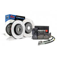 Special package DBA Street T2 rear brake discs and Ferodo DS2500 pads - VW Golf VI R / Audi S3 / RS3 8P