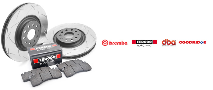 DBA brake disc Ferodo Brake Pads